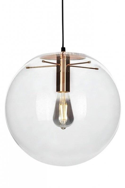Lampa wisząca SANDRA 40 miedziana - szkło, metal