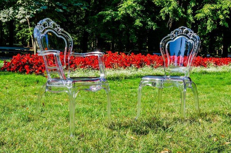 Krzesło KING transparentne - poliwęglan