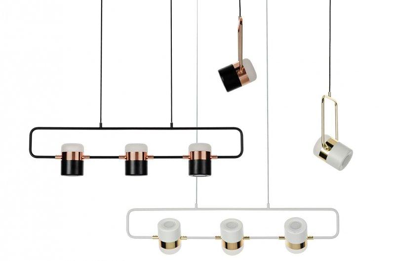 Lampa wisząca BLINK 3 biała - LED, metal