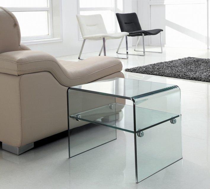 Stolik szklany IDEAL PICCOLO - szkło transparentne
