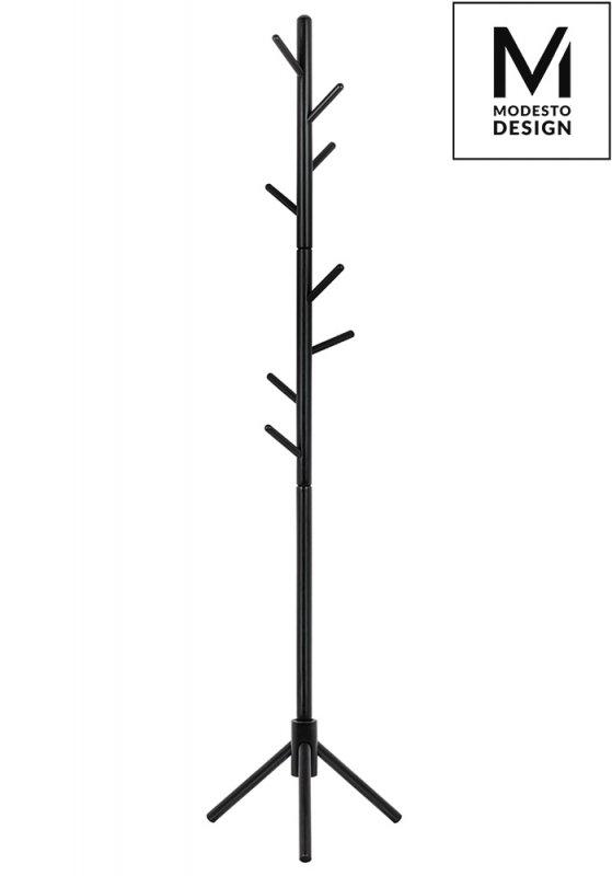 MODESTO wieszak stojący STICK czarny - drewno bukowe