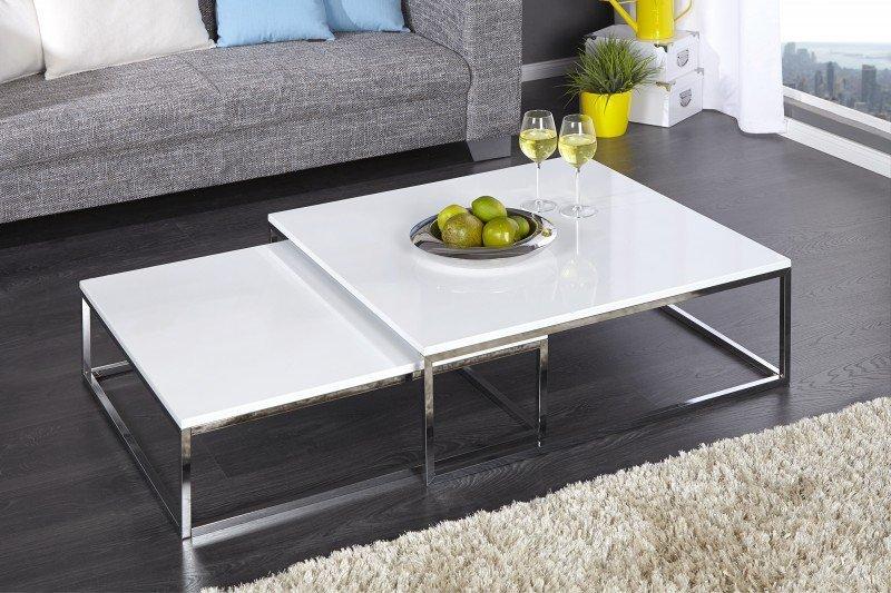 INVICTA zestaw stolików NEW ELEMENTS 2 białe