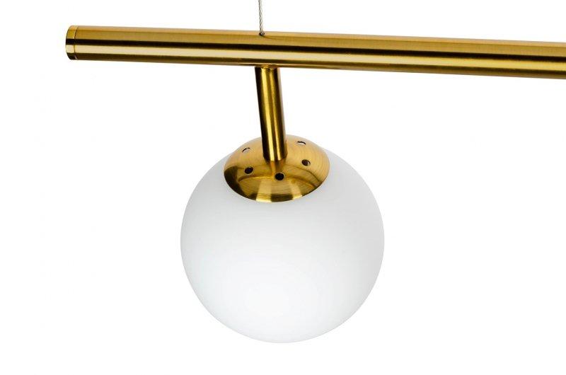 Lampa wisząca ASTRA 1 antyczny mosiądz - metal, szkło