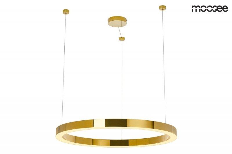 MOOSEE lampa wisząca RING LUXURY 90  złota - LED, chromowane złoto
