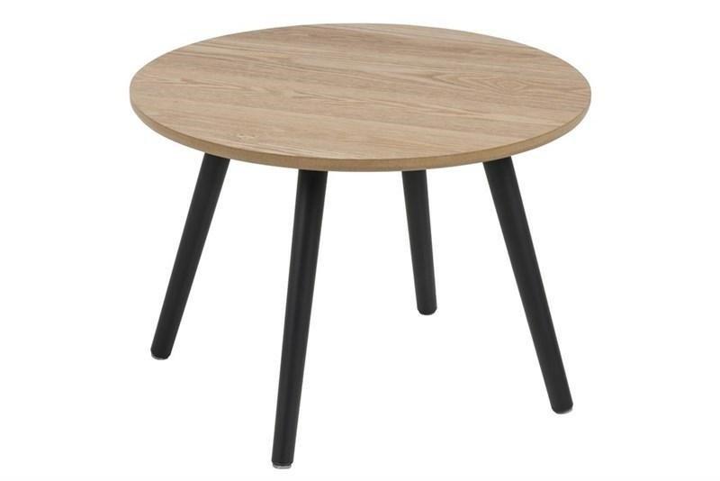 ACTONA Stolik kawowy STAFFORD - natural, czarne nogi
