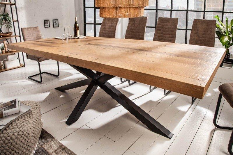 INVICTA stół GALAXIE 240 cm Sosna - drewno naturalne, metal