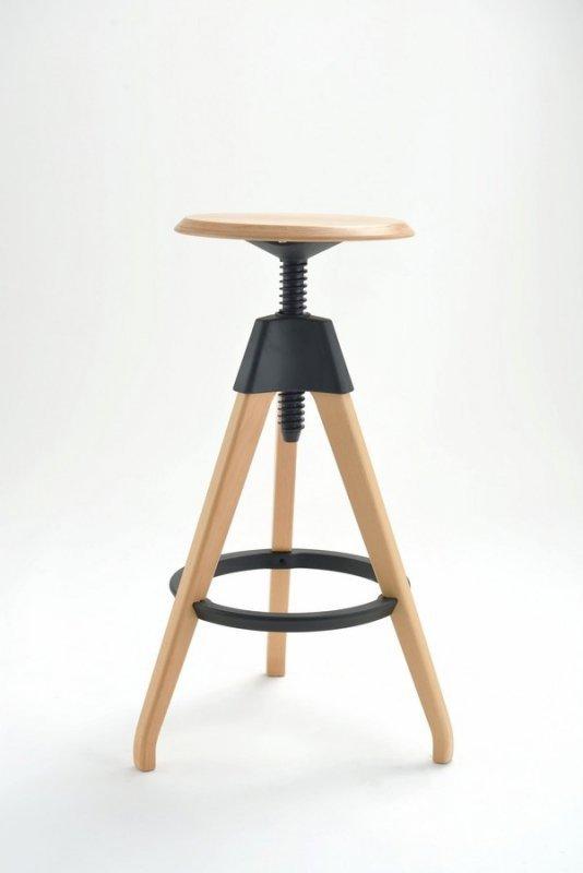 Hoker TOM czarny - polipropylen, drewno bukowe