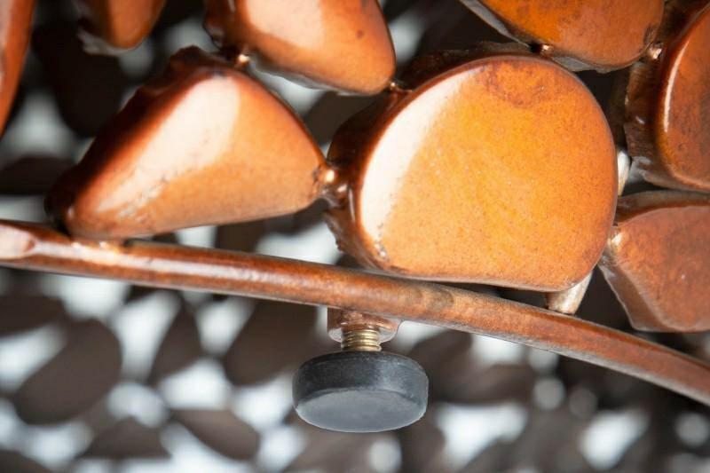 INVICTA Stolik MOSAIC 85 cm miedziany - metal, aluminium