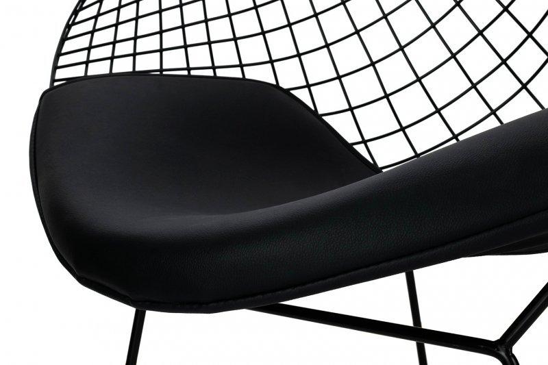 Fotel VOLIER SOFT czarny - poduszka czarna