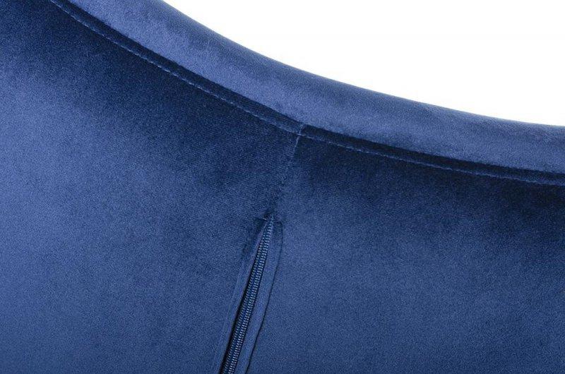 Fotel EGG SZEROKI VELVET ciemny niebieski.49 - welur, podstawa stal