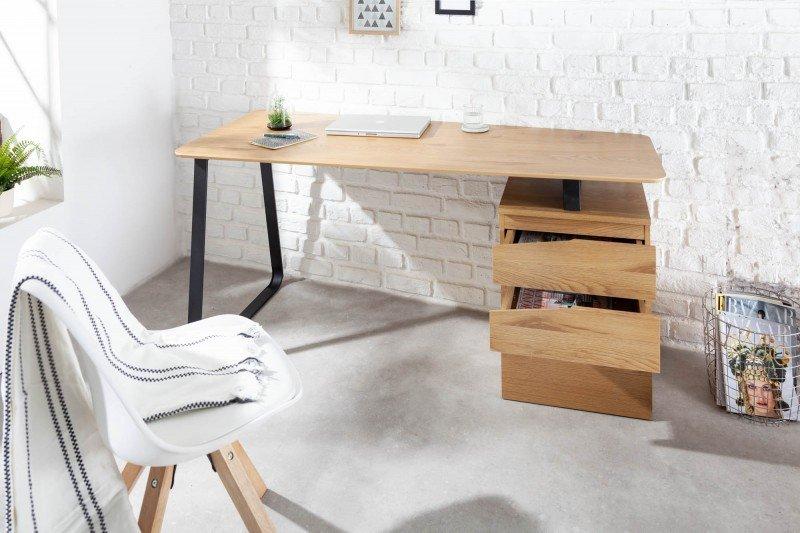 INVICTA biurko STUDIO 160cm  imitacja dębu