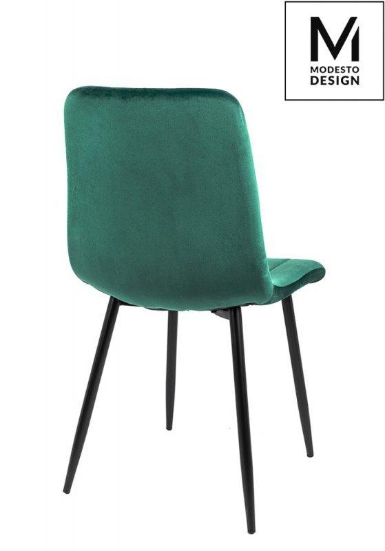 MODESTO krzesło LARA zielone - welur, metal