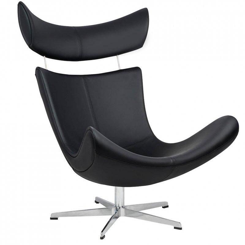 Fotel VOUGE czarny ekoskóra