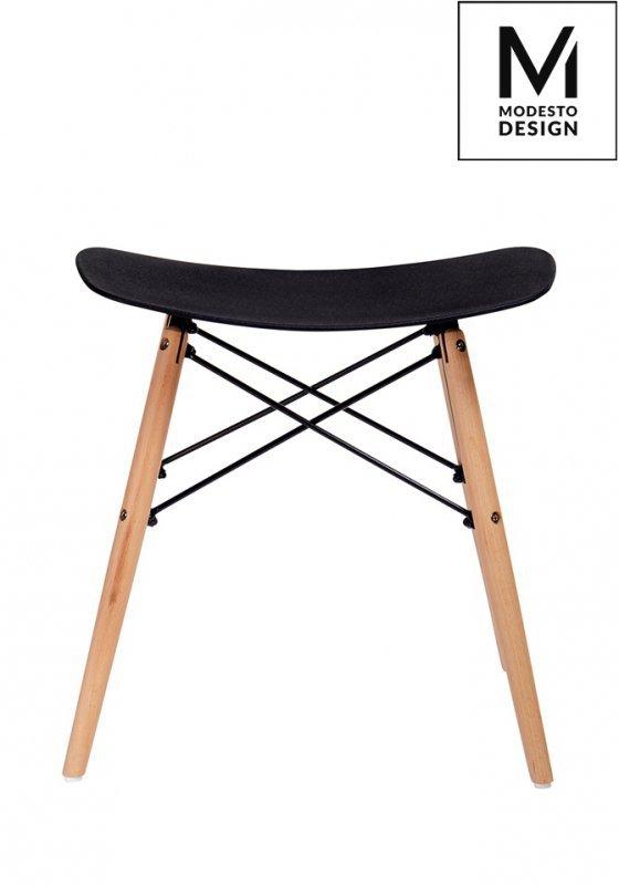 MODESTO stołek BORD czarny - polipropylen, podstawa bukowa