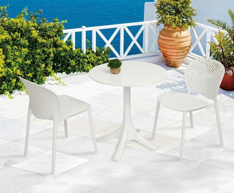 Krzesło VENTO białe polipropylen