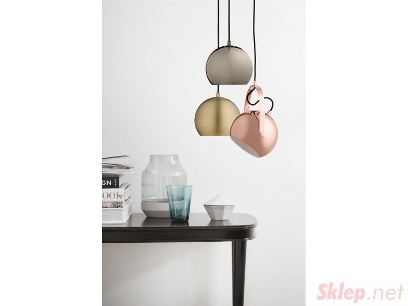 FRANDSEN lampa wisząca BALL miedziana