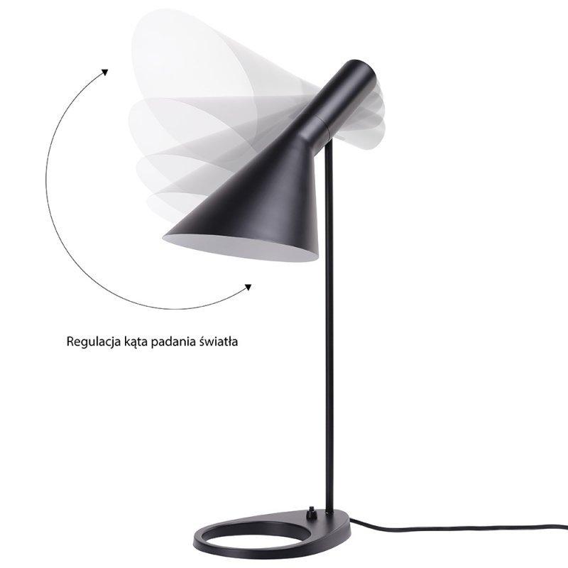 Lampa biurkowa FONO czarna - aluminium