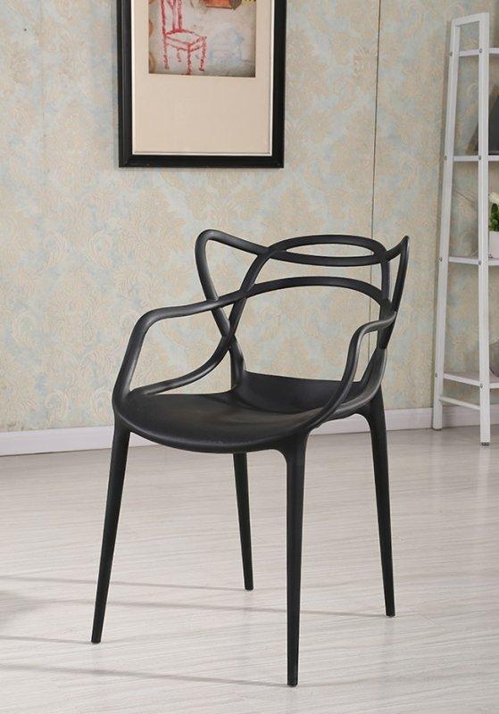 Krzesło HILO PREMIUM czarne - polipropylen