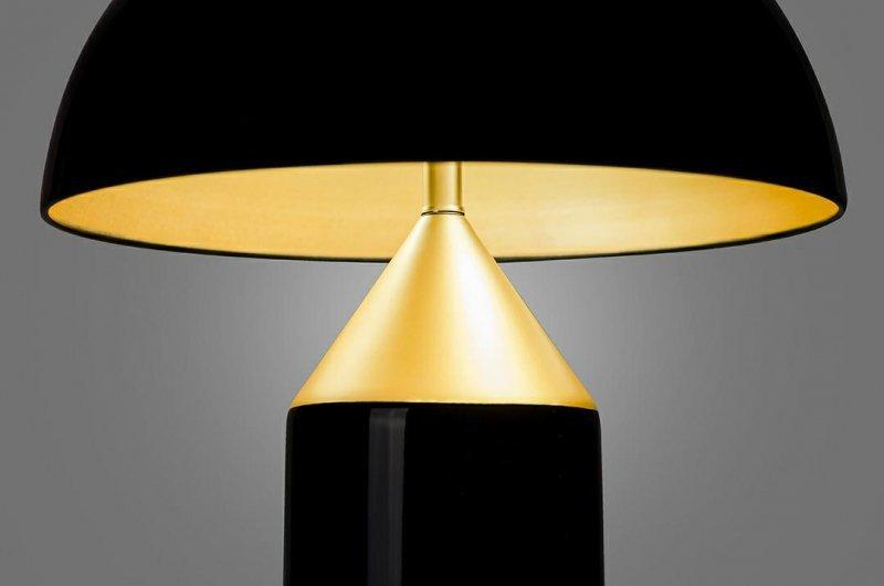 Lampa biurkowa FUNGO czarno-złota - aluminium