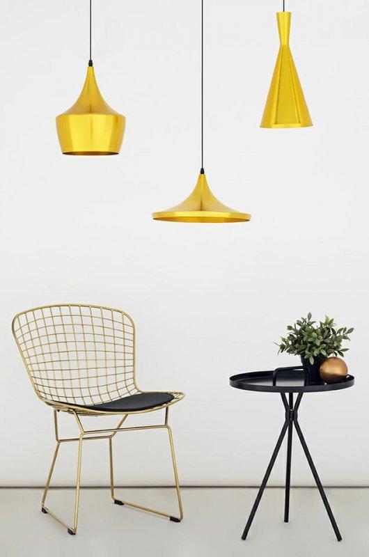 Lampa wisząca BET SHADE FAT złota - środek złoty