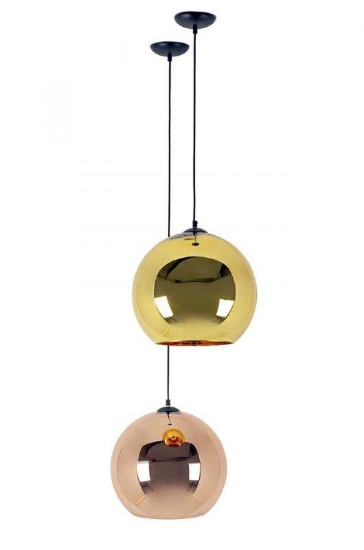 Lampa wisząca BOLLA UP ROSE GOLD 30 - szkło metalizowane
