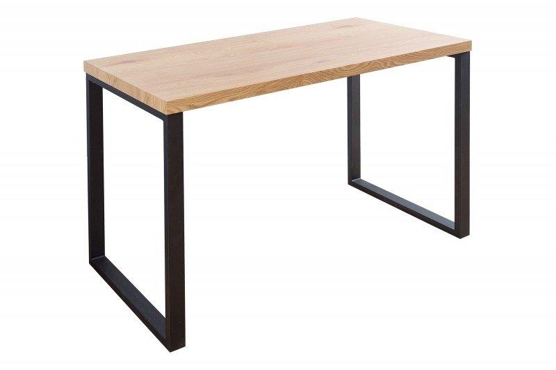 INVICTA biurko OAK 128 dąb - fornirowany MDF, nogi metalowe