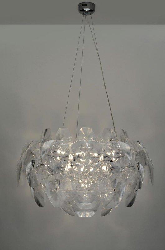 Lampa wisząca 3D BIG - akryl, metal