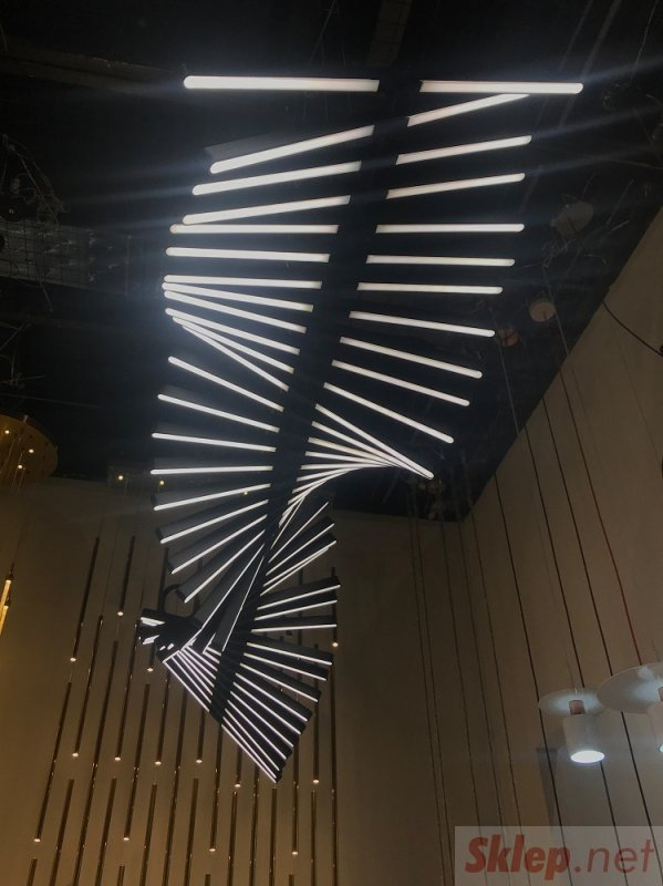 Lampa wisząca PIANO 30 czarna - LED, aluminium
