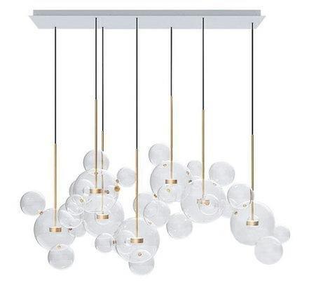 Lampa wisząca CAPRI LINE 7 złota - 420 LED, aluminium, szkło
