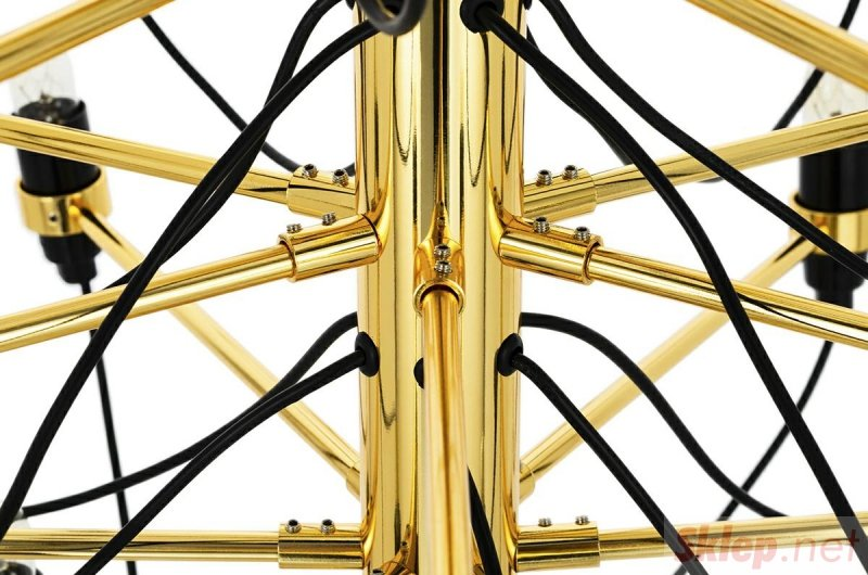 Lampa wisząca GINO GOLD 85 złota  - stal węglowa