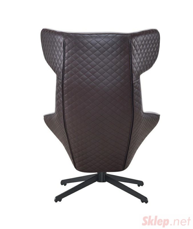 Fotel VITA szary - brąz  - tkanina, ekoskóra, metal