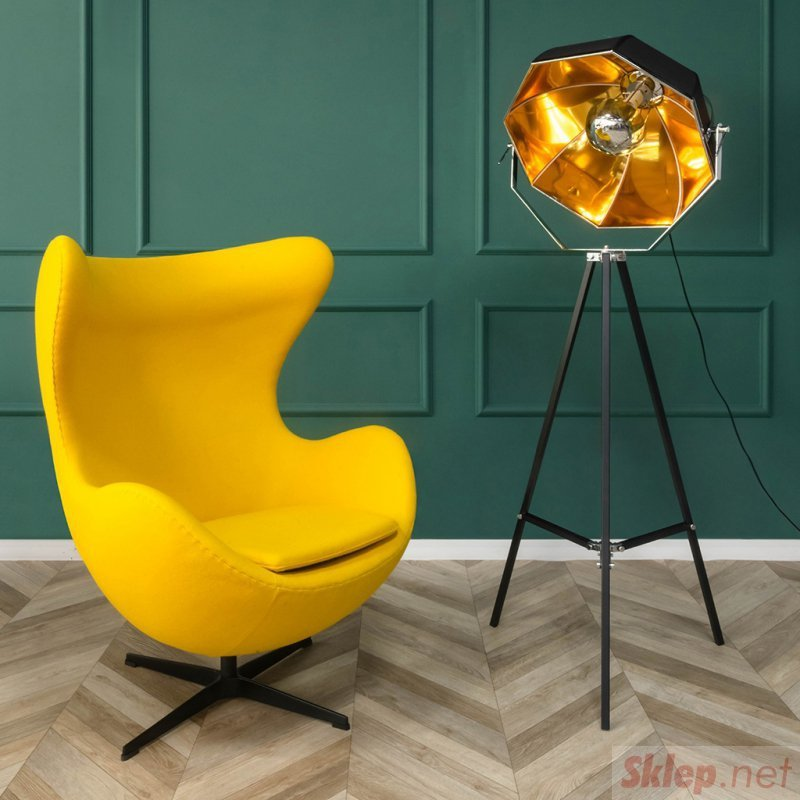 Fotel EGG CLASSIC jasny turkus.43 - wełna, podstawa aluminiowa