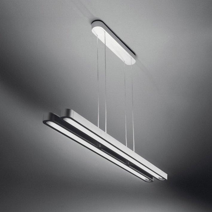 Lampa wisząca TALEO DUO szara - aluminium