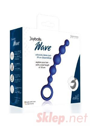 Plug/kulki-Joyballs anal Wave, short, blue