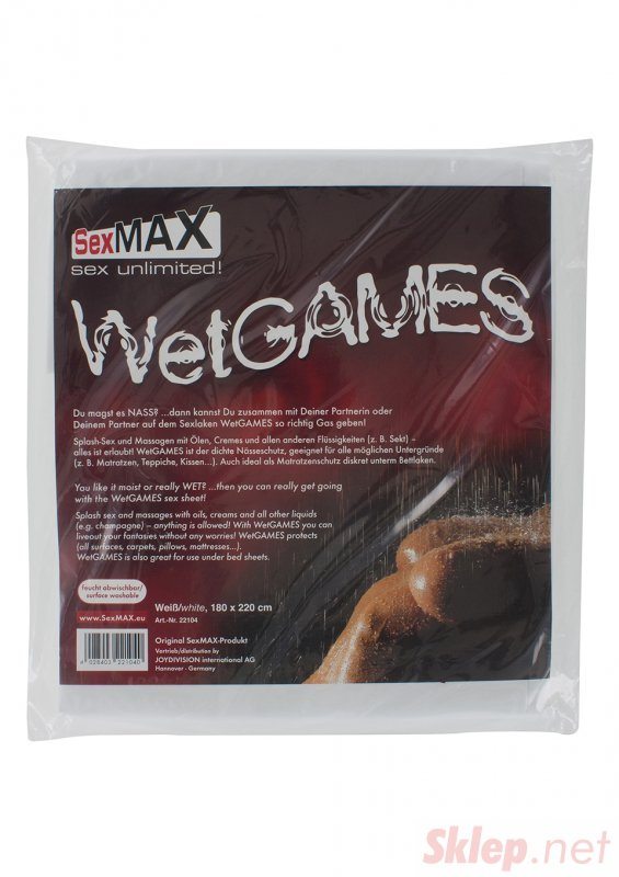 BDSM-SexMAX WetGAMES Sex sheet, 180 x 220 cm, white