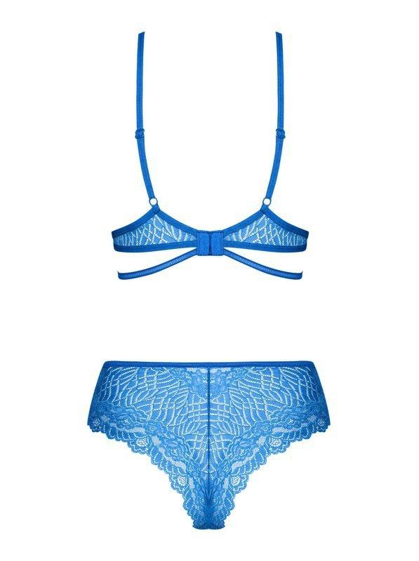 Bielizna-Bluellia komplet 2-częściowy niebieski L/XL