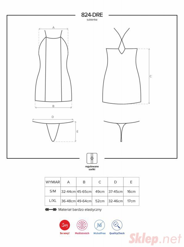 Bielizna-824-DRE-1 sukienka i stringi L/XL