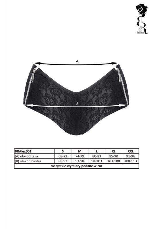 Bielizna - BRALEX001 szorty czarne rozmiar XXL