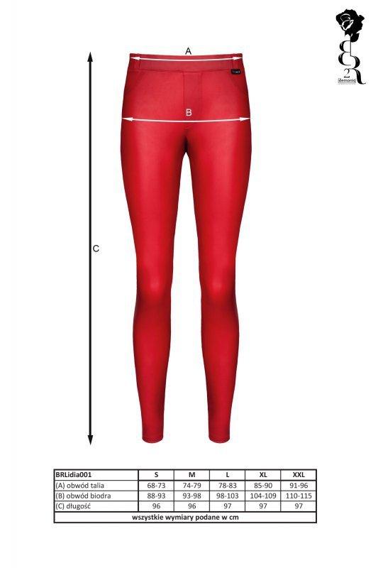 Bielizna - BRLIDIA001 legginsy czerwone rozmiar S