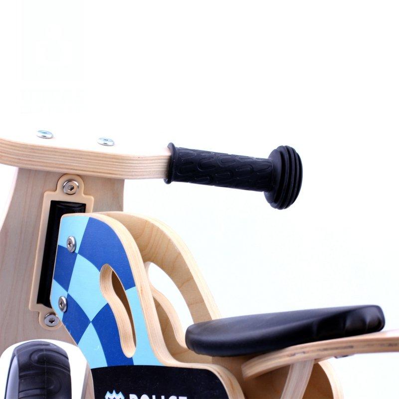 Drewniany rower rowerek biegowy balansowy Motor Policja
