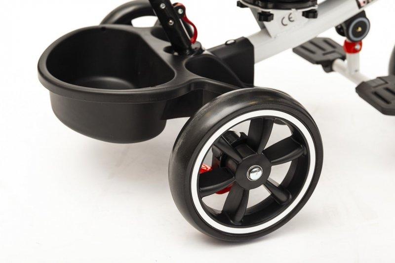 Rower rowerek trójkołowy wózek z daszkiem pchacz