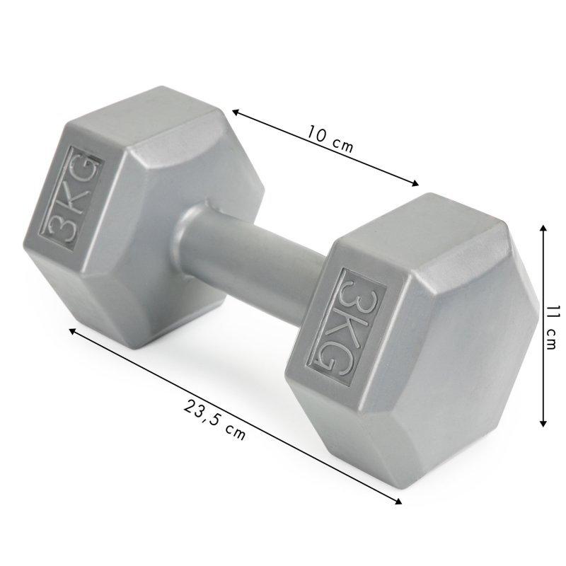 Hantle fitness 6kg zestaw hantelki ciężarki 2x 3kg