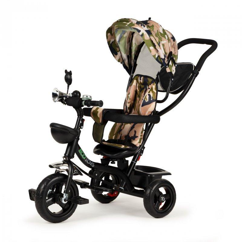 Rowerek trójkołowy obracany fotelik spacerówka