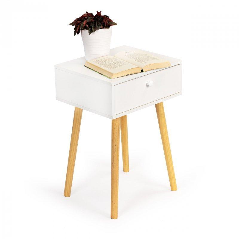 Szafka stolik nocny kawowy z otwieranym schowkiem