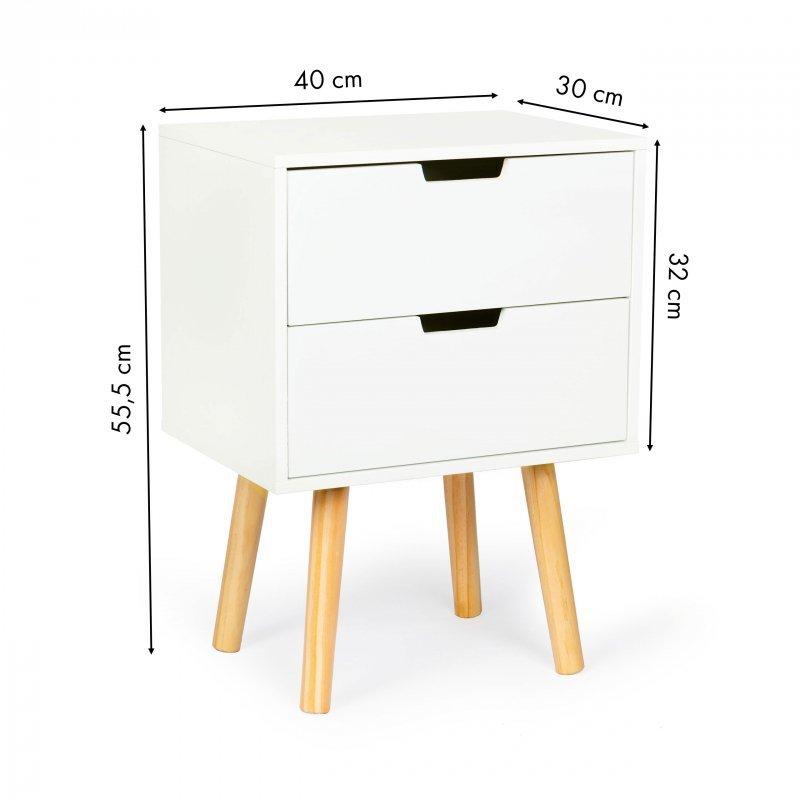 Szafka nocna 2 szuflady stolik nocny ModernHome