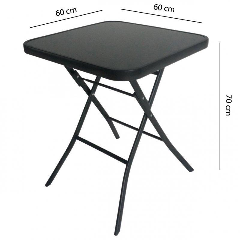 Stół stolik ogrodowy składany 60cm na taras balkon