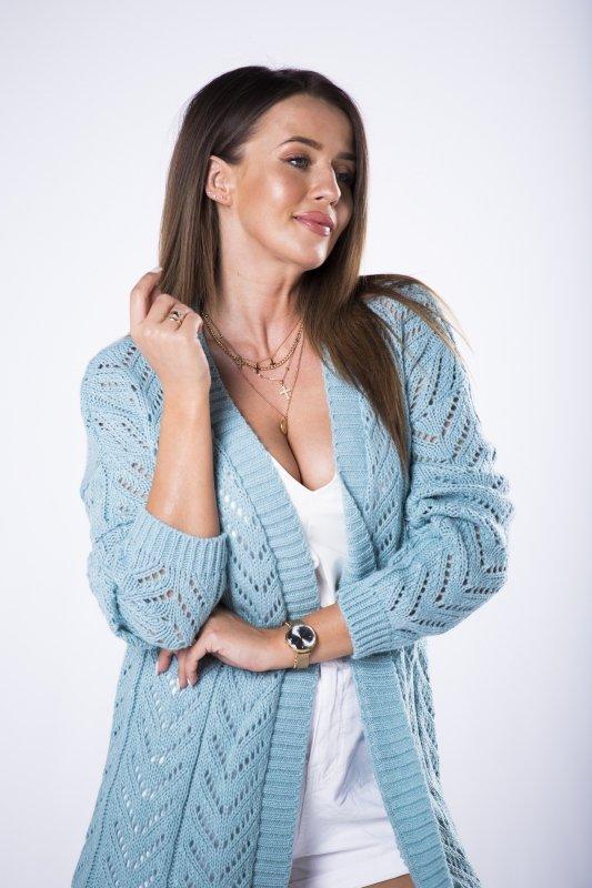 długi sweter typu kardigan