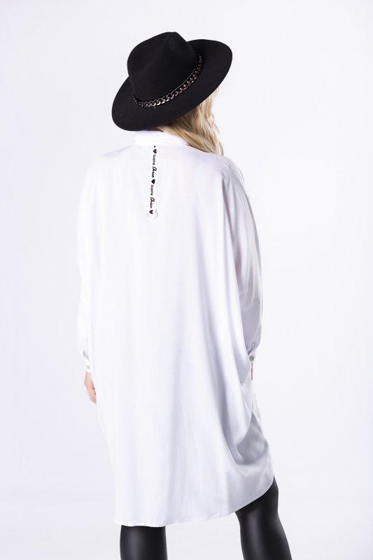 oversize'owa koszula z wydłużonym tyłem