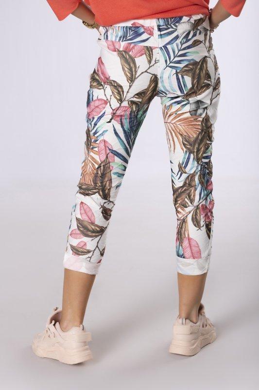 wzorzyste spodnie z efektem gniecenia