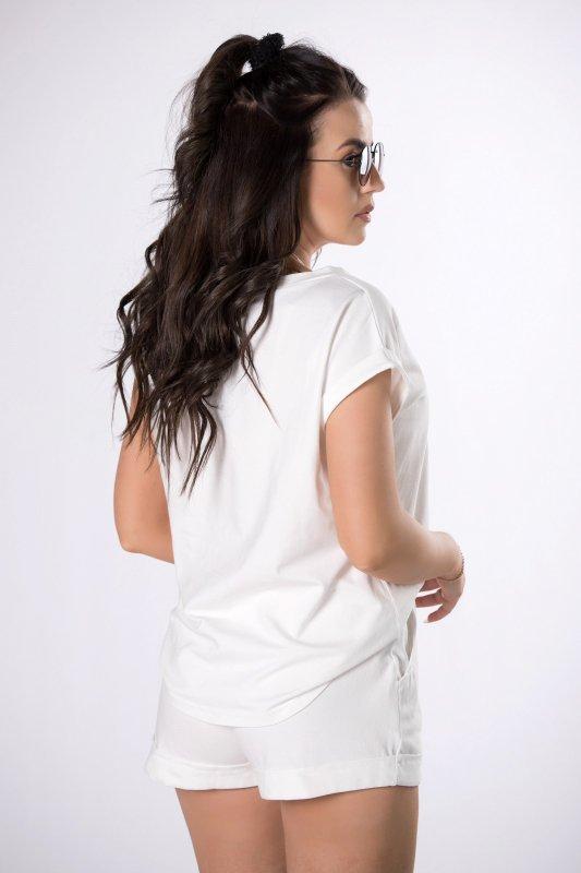 dresowy komplet t-shirt i szorty